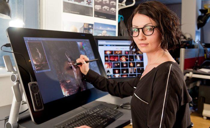 Работа цифровым художником