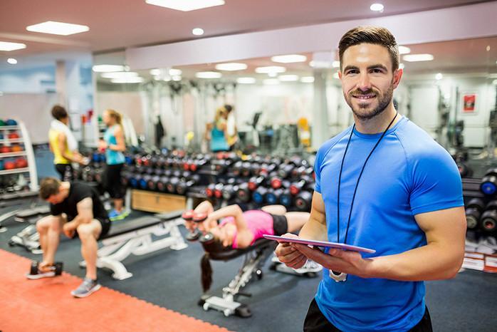 Работа фитнес-тренером