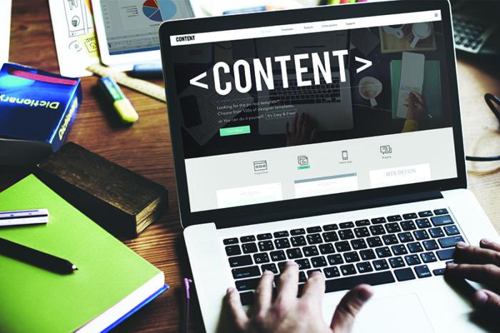 Создание контента страниц